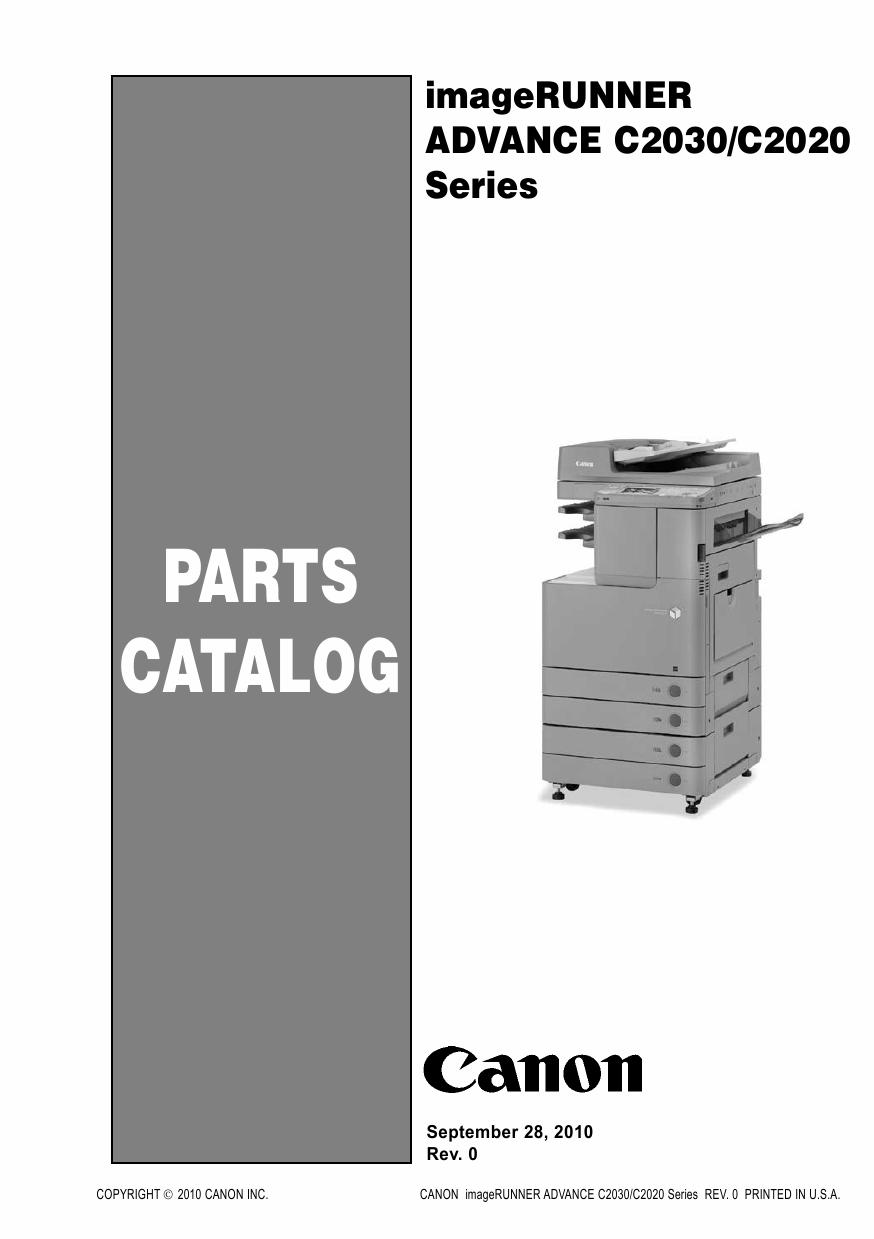 canon imagerunner advance ir    parts catalog